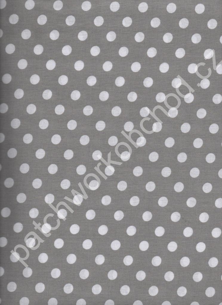 Drobný bílý puntík na šedé šíře 140 cm jemná 100% bavlna ... c7d693baeb6