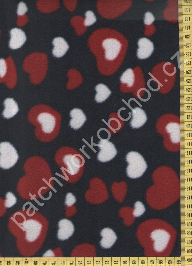 b62f8a6d9547 Fleece -srdíčka oděvní dekorační látka